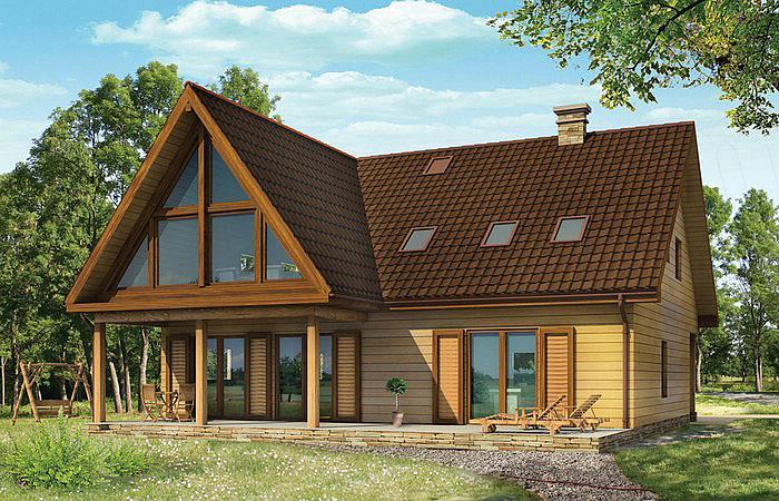 Projekty domów z bali